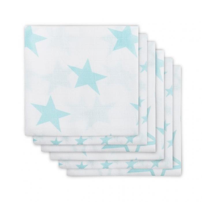 Муслиновые пеленки для новорожденных Jollein средние, Little Star Jade