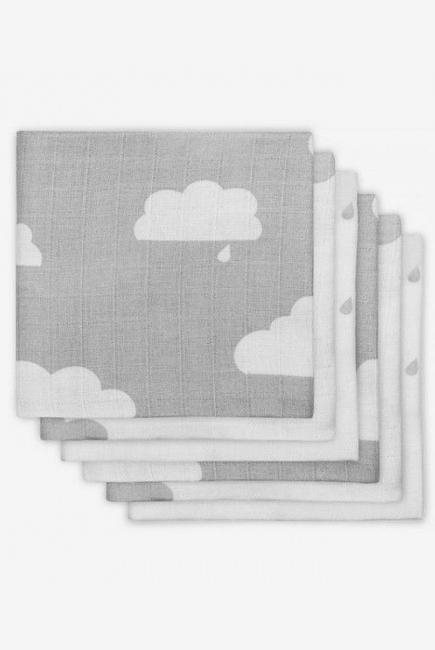 Муслиновые пеленки для новорожденных Jollein средние, Clouds Grey