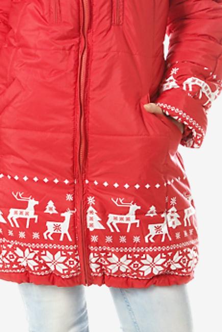 Зимняя слингокуртка Ingrid 3в1, олени коралл