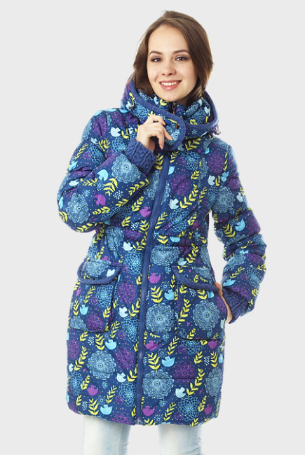 Зимняя слингокуртка Gerda 3в1, индиго