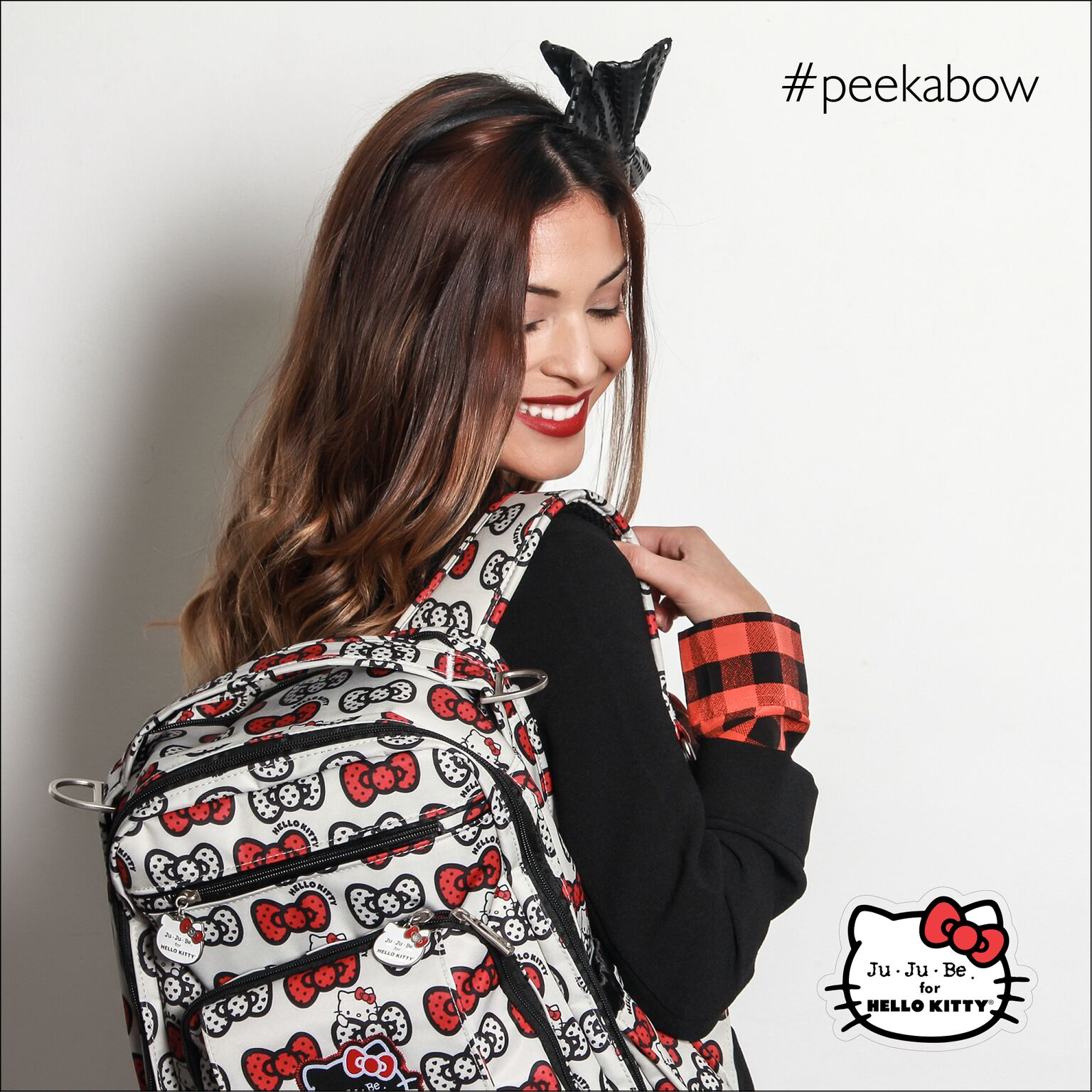 Рюкзак для мамы Ju-Ju-Be - Be Right Back, Hello Kitty Peek a Bow