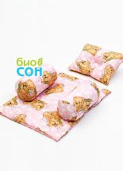 """Подушка для новорожденных BabySet (позиционер) """"Мишки"""""""