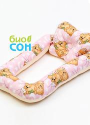 """Подушка для новорожденных BabySleep (ограничитель) """"Мишки"""""""
