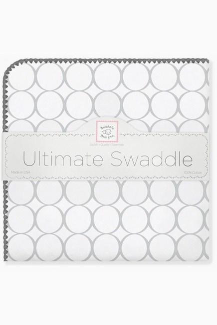 Фланелевая пеленка для новорожденного SwaddleDesigns Sterling Mod/WH