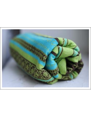 Слинг-шарф Ellevill Zara Tricolor Green со льном