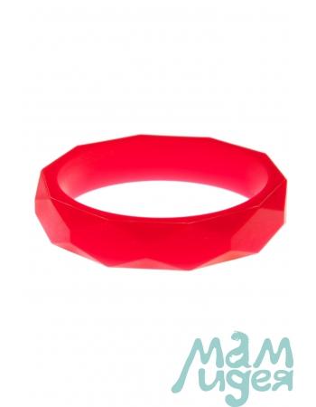 Молочный браслет из пищевого силикона, красный