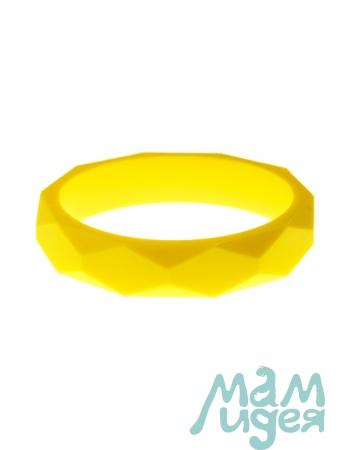 Молочный браслет из пищевого силикона, желтый