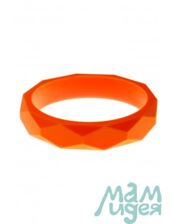Молочный браслет из пищевого силикона, оранжевый