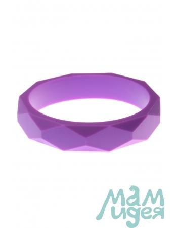 Молочный браслет из пищевого силикона, фиолетовый