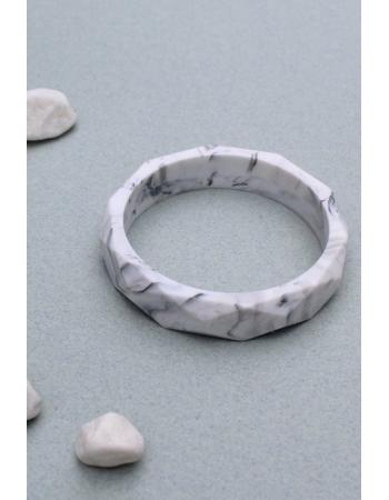 Молочный браслет из пищевого силикона, мраморный