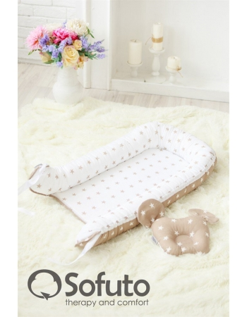 Гнездышко-кокон для новорожденных Babynest Latte