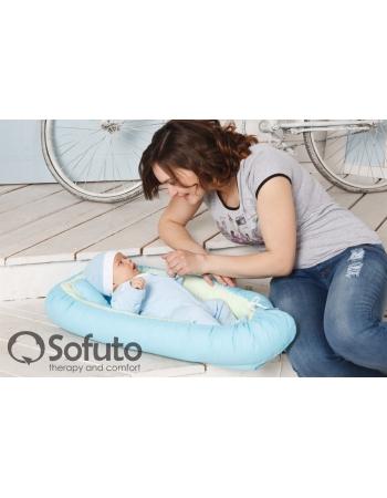 Гнездышко для новорожденных Babynest Praline blue