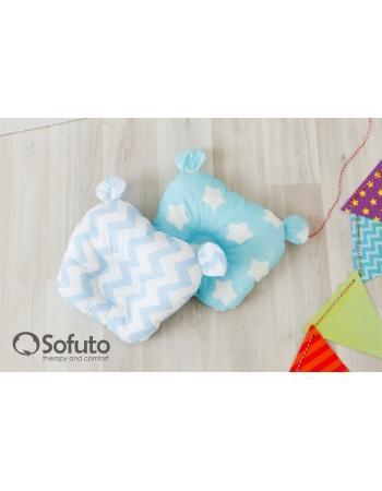 Кокон-гнездышко для новорожденных Babynest Stars and Waves Aqua