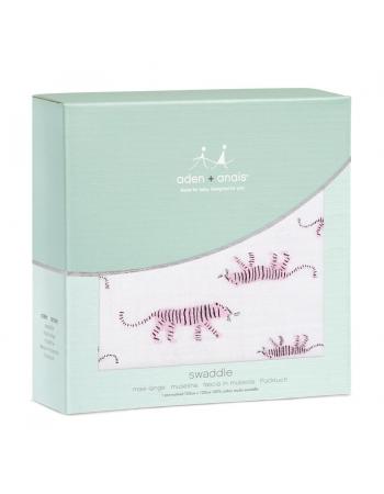 Муслиновая пеленка для новорожденных Aden&Anais, Pink Tigers