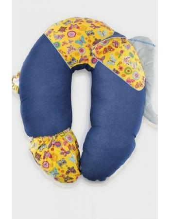 """Подушка для беременных и кормящих """"Слон Радостный"""", синий"""