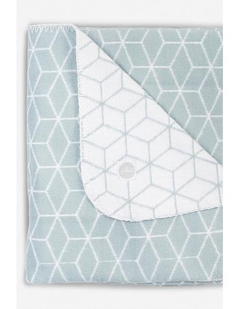Плед для новорожденных, Graphic Stone Green