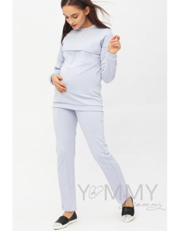 Костюм для кормящих и беременных из плотной вискозы, цвет лавандовый