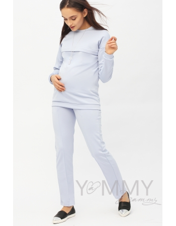 Костюм из плотной вискозы Костюм для кормящих и беременных из плотной вискозы, цвет лавандовый