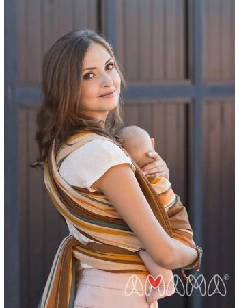 Слинг-шарф «Табатай» Амама, коричневый полосатый