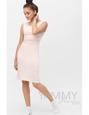 Платье для дома и сна нежно-розовое