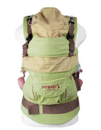 Эрго-рюкзак My Baby Style, зеленый конфетти