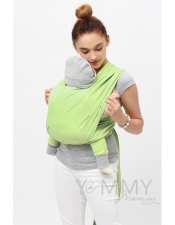 "Слинг-шарф YammyMammy (yummy mammy) трикотажный, цвет ""светло-салатовый"""