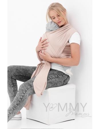 """Слинг-шарф трикотажный, цвет """"бежевый"""""""