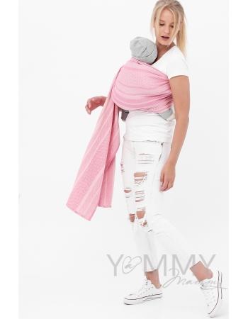 """Слинг с кольцами YM, цвет """"розовый/белый"""""""