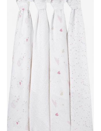 Муслиновые пеленки для новорожденных Aden&Anais большие, набор 4, Lovely