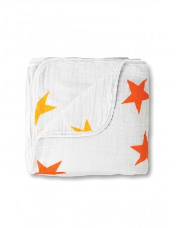 Aden&Anais одеяло муслиновое, Super Star + Оранжевый (суперзвезда+оранжевый)