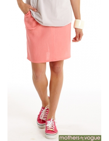 Юбка для беременных и родивших Mothers en Vogue Linen Utility, розовый