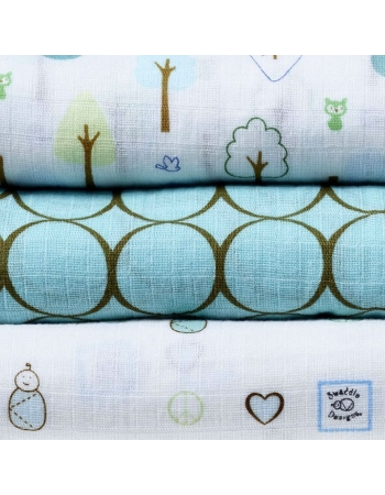 Набор пеленок SwaddleDesigns SwaddleLite Cute & Calm SeaCrystal