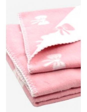 """плед для новорожденных, цвет """"Bow pink"""""""