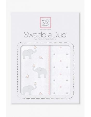 Набор пеленок SwaddleDesigns Swaddle Duo PP Elephant/Chickies