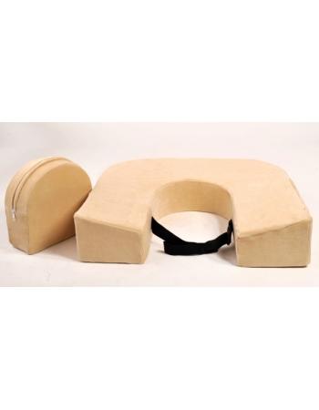 Подушка для кормления двойни «Milk Rivers Twins» с дополнительной подушкой для спины нежно-желтая