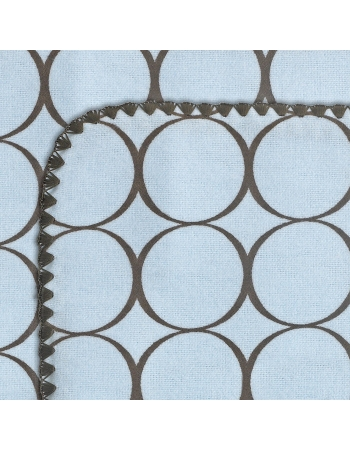 Фланелевая пеленка для новорожденного SwaddleDesigns Blue w/BR Mod C