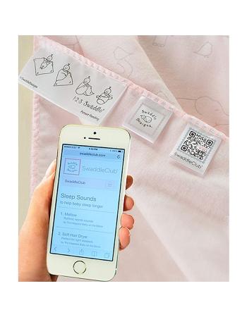 Фланелевая пеленка для новорожденного SwaddleDesigns Слоники с птичками розовая