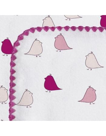 Фланелевая пеленка для новорожденного SwaddleDesigns VB Lt. Chickies
