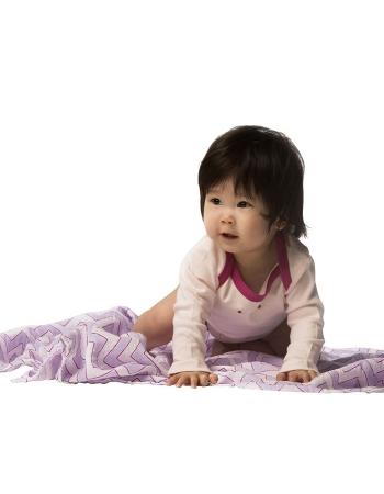 Пеленка детская тонкая SwaddleDesigns Маркизет Lavender Chevron