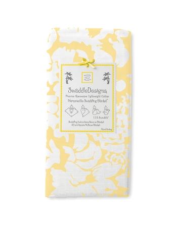 Пеленка детская тонкая SwaddleDesigns Маркизет Yellow Lush