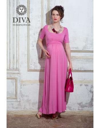 Платье для кормящих и беременных Diva Nursingwear Stella Maxi, Rose