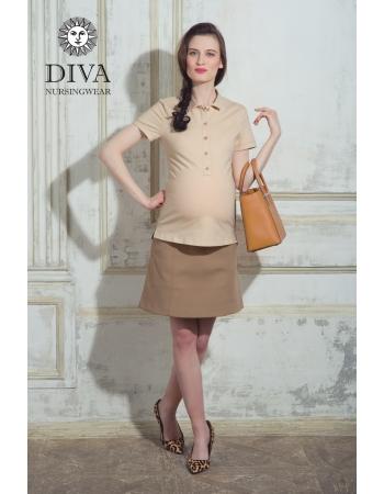 Топ для кормления Diva Nursingwear Polo, цвет Grano