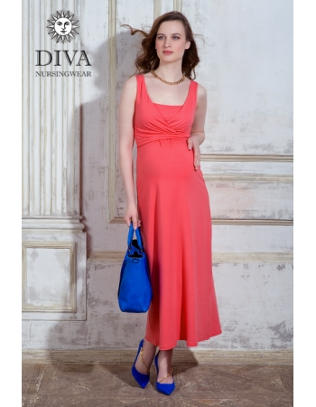 Сарафан для кормящих и беременных Diva Nursingwear Alba Maxi, Corallo
