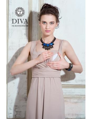 Сарафан для кормящих и беременных Diva Nursingwear Alba Maxi, Grano