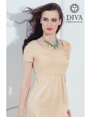 Платье для кормящих и беременных Diva Nursingwear Dalia, цвет Grano