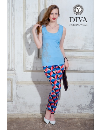 Топ для кормления Diva Nursingwear Eva Print, цвет Celeste