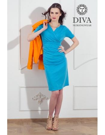 Платье для кормящих и беременных Diva Nursingwear Lucia кор.рукав, Celeste