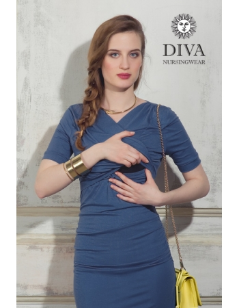 Платье для кормящих и беременных Diva Nursingwear Lucia кор.рукав, Notte