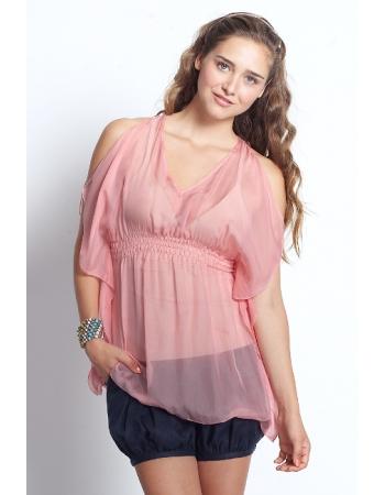 """Топ для кормления Mothers en Vogue """"Resort Silk Kaftan"""", розовый"""