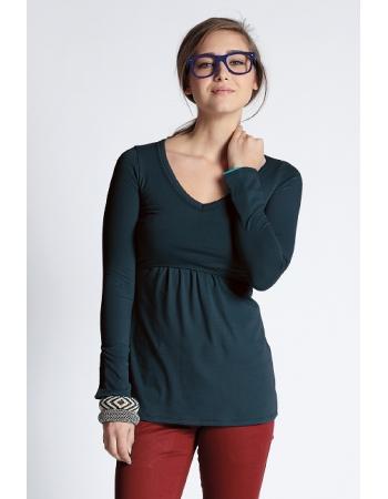 Топ для кормления Mothers en Vogue Must Have V-Neck, серо-синий (Darkest Spruce)